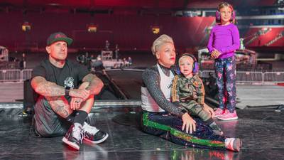 """Pink's husband thanks her for taking """"amazing care"""" of him during back surgery recovery"""