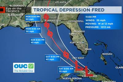 Fred expected to bring scattered rain Saturday, but Sunday looking drier